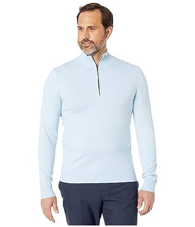 Calvin Klein Cotton Modal Long Sleeve 1/4 Zip (Cerulean) Men
