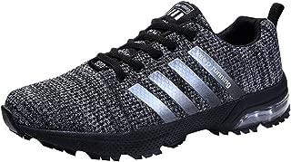 Mujeres Hombres Air Zapatillas de Deportivos Fitness Athletic Zapatos para Correr 3cm Respirable Sneakers 36-46 Negro Azul Rojo Blanco