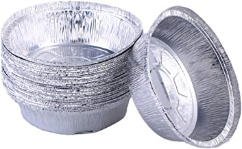 BESTONZON Aluminum Foil Tart/Pie Pans|Disposable Round Tin Plates for Homemade Cakes Pies - 6 Inch | Pack of 10(No Lids)