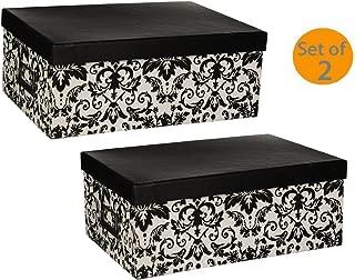 Pioneer Photo Albums Photo Storage Box (Black/White Damask) (Damask Design(Bundle))