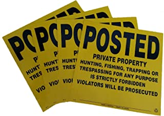 Minuteman Signs | 4 Pack Aluminum Posted Private Property Signs