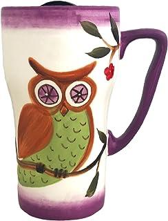 Owl Design Coffee Travel Mug by A.C.K. Trading Co.