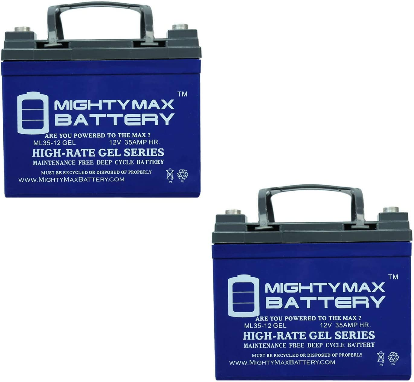 Mighty Long-awaited Max Battery 12V 35AH Gel Radi for Ham Max 78% OFF Replacement
