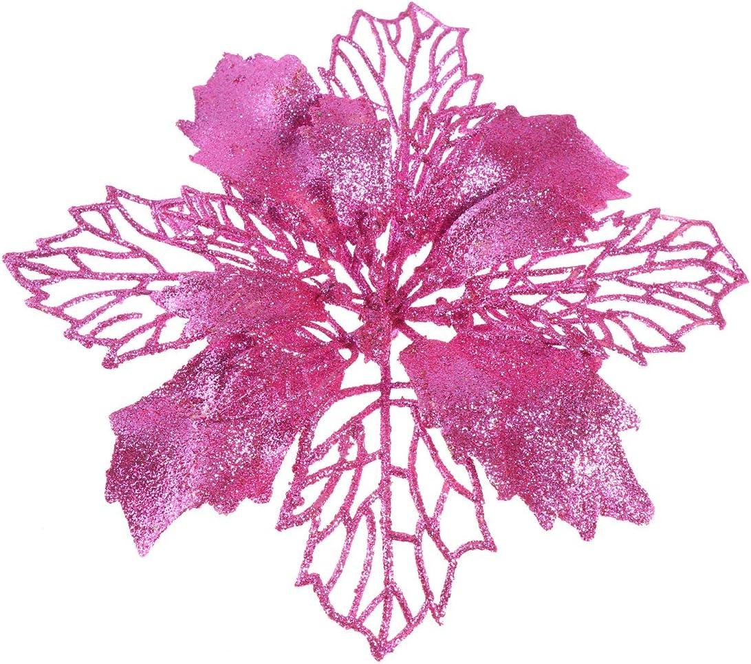 Healifty Pink Christmas Washington Jacksonville Mall Mall Tree Simulate Glitter Flower Decorative