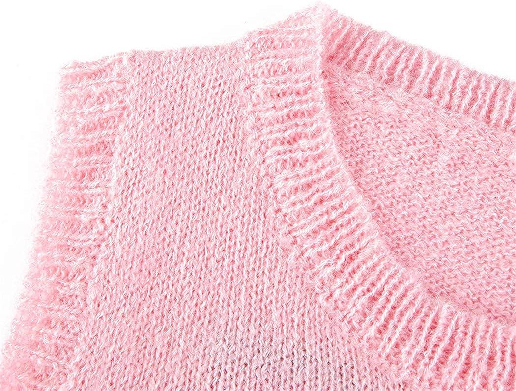 Women Streetwear V Neck Sleeveless Preppy Style Knitwear Tank Crop Top Argyle Sweater Vest Spring Waistcoat Clothes