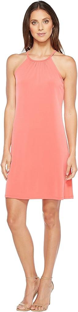 Solid Matte Jersey Halter Dress