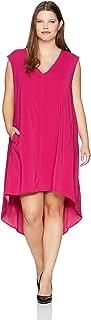 Rebel Wilson X Angels Women's Plus Size Hi-Lo Hem Dress with Slit Detail