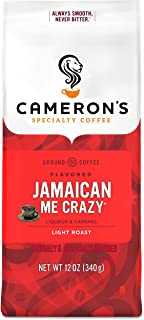 Cameron's Coffee Roasted Ground Coffee Bag, Flavored, Jamaican Me Crazy, 12 Ounce