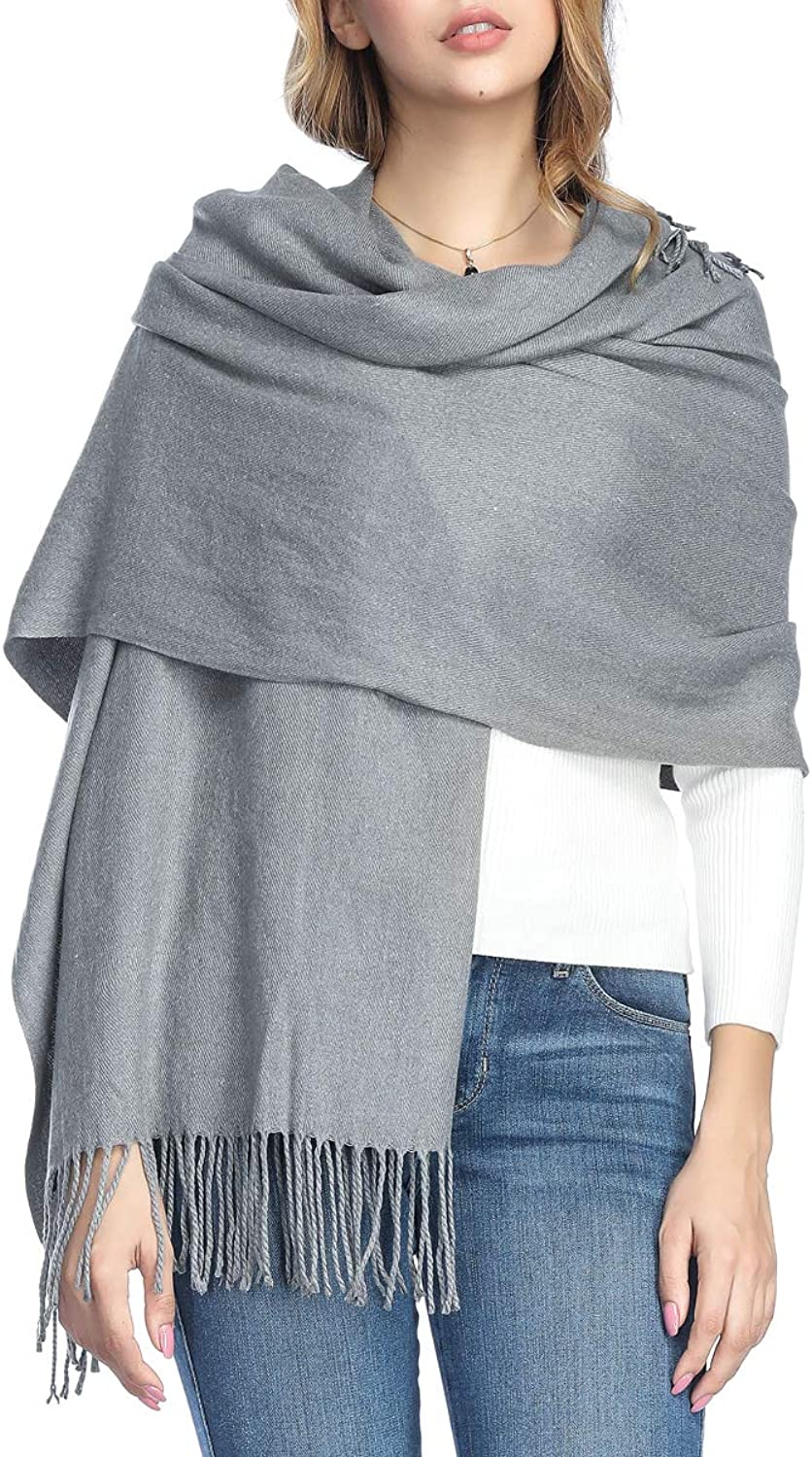 Extra Large Thick Soft Cashmere Wool Shawl Wraps for Women  PoilTreeWing Pashmina Scarf