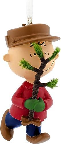 Hallmark Christmas Ornament, Peanuts Charlie Brown Bringing Home the Tree