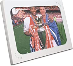 Dennis Bergkamp Signed Arsenal Photo: With Thierry Henry In Gift Box