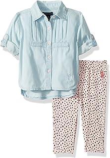 Baby Girl's Fashion Top and Legging Set Pants