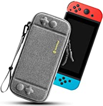 tomtoc Carry Case for Nintendo Switch, Ultra Slim Hard Shell with 10 Game Cartridges, Protective Carrying Case for Travel,...