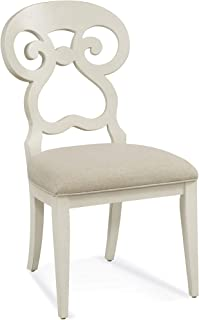 Bassett Mirror Company Dining Side Chair in Distressed White Finish - Set of 2