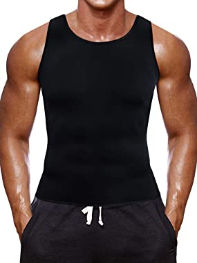 Men Waist Trainer Corset Vest for Weight Loss Hot Neoprene Slimming Body Shaper Sweat Tank Top Sauna Suit Workout Sport Shirt