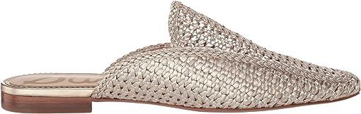 Molten Gold Zebu Woven Leather
