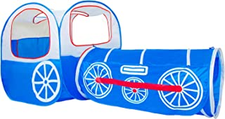 Tienda de campaña plegable para niños Alpika, túnel y piscina de pelotas con bolsa de almacenamiento., English