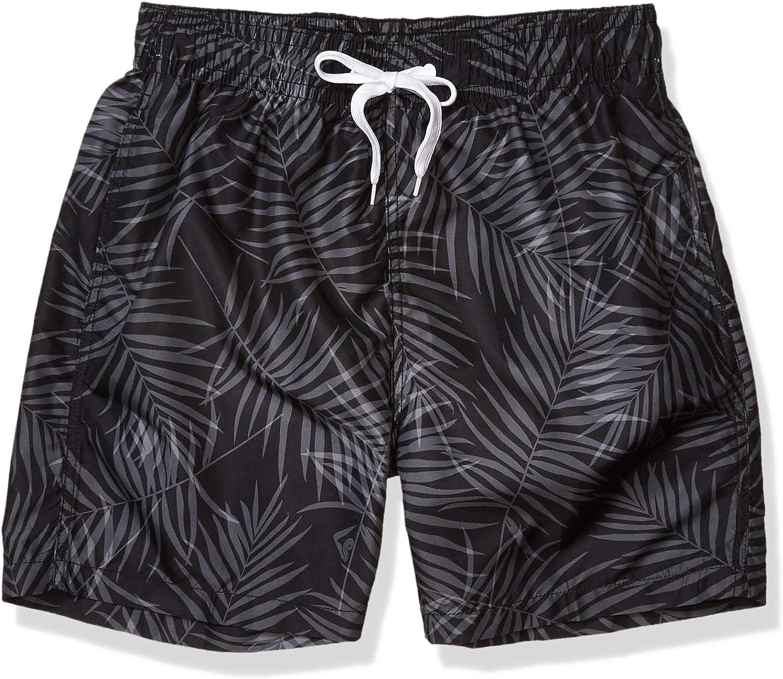 Kanu Surf Men's Monaco Swim Trunks (Regular & Extended Sizes), Palma Black, 5X