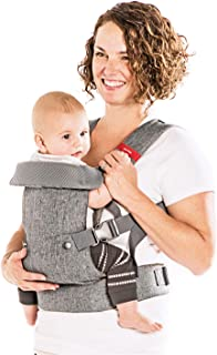 You+Me 4-in-1 Ergonomic Baby Carrier, 8 – 32 lbs (Grey Mesh)