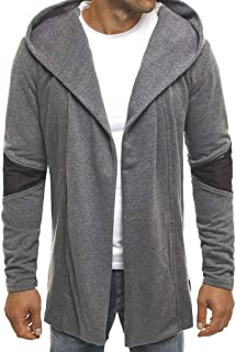 Mens Casual Long Sleeve Round Neck Gradual Color Printing Hoodies Sweatshirt Tops Outwear Blouse Coat (M-3XL)