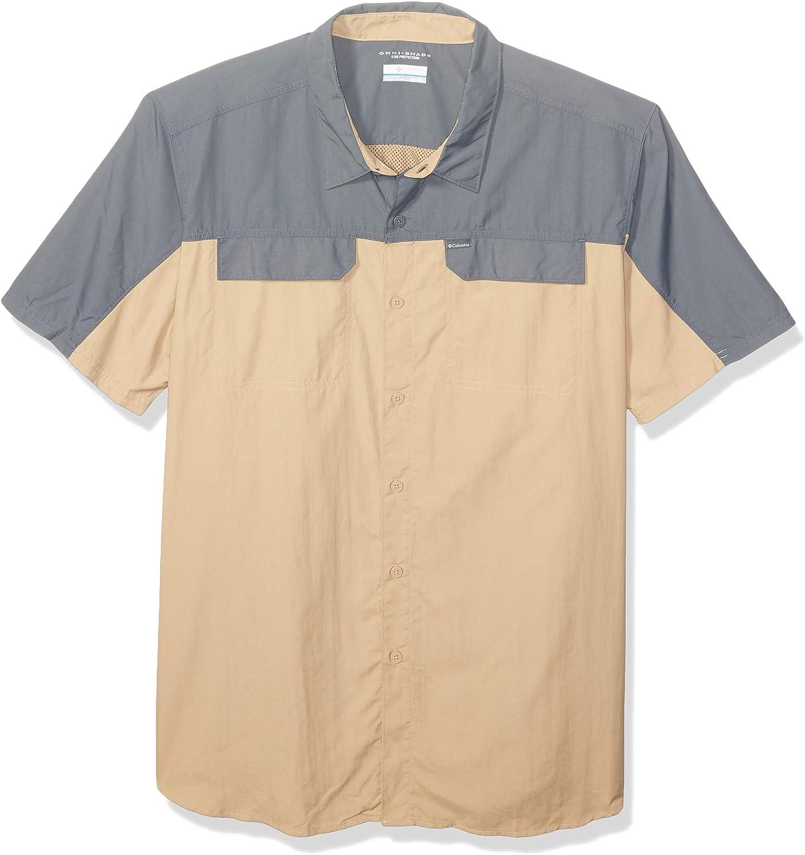 Columbia Men's Silver cheap Ridge OFFicial shop 2.0 Shirt Blocked Short Sleeve