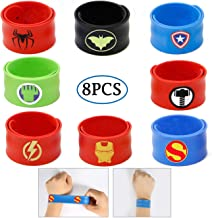 Slap Bracelets for Kids Party Supplies Favors Boy's Wristband Accessories Wrist Strap Gift Supplies (8-Pack)