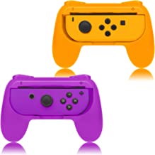 FYOUNG Grips for Nintendo Switch Joy-Con, Controllers for Nintendo Switch Joy Con - Orange and Purple (2 Packs)