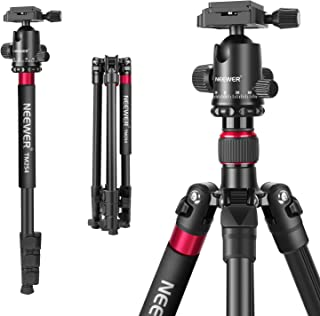 Neewer 2-in-1 Aluminum Alloy Camera Tripod Monopod 66 inches/168 Centimeters with 360 Degree Ball Head 1/4 inch QR Plate a...