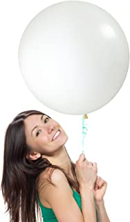 18 Inch (1.5 ft) Giant Jumbo Latex Balloons (Premium Helium & Confetti Quality), Pack of 6, Round Shape - Clear, for Photo Shoot/Birthday/Wedding Party/Festival/Event/Carnival