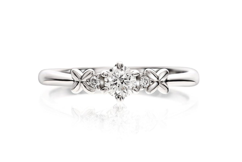 再編成する首アカウントLEGAN エンゲージリング 婚約指輪 11号 永遠の輝き プラチナ ダイヤモンド 0.2ct UP ギフトボックス付