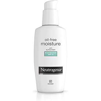 Neutrogena Oil-Free Daily Long Lasting Facial Moisturizer & Neck Cream with SPF 15 Sunscreen & Glycerin, Non-Greasy, Oil-Free & Non-Comedogenic Face Moisturizer, 4 fl. oz