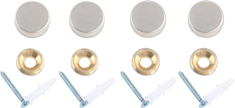 "Decorative Mirror Screws Cap Cover Nails, Cap Fasteners,0.6"", Satin Nickle, 4 Pack"