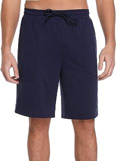 Irevial Pantalones Cortos de Pijama para Hombre, Pijama del Hombre de Algodon, elástico pantalón de Dormir a Cuadros,Short...
