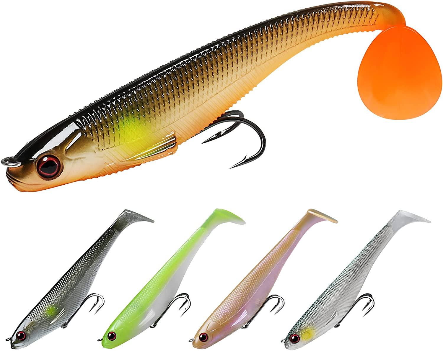 Financial sales sale TRUSCEND Fishing Lures Shad Soft Swimbaits DIY or Topics on TV Pre-Rigged F