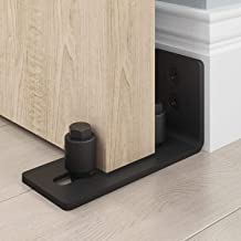EaseLife Heavy Duty Sliding Barn Door Floor Guide,Adjustable Roller,Wall Mount System,Flush Bottom Design,Floor and Door Panel Non-Damage,2 in 1 Install Setup,1 Pcs