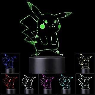 3D Illusion LED-nachtlampje, 7 kleuren Geleidelijk veranderende aanraakschakelaar USB-tafellamp voor vakantiegeschenken of...