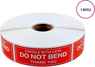 EPS Handle With Care - Do Not Bend - Thank You Shipping Stickers, 1