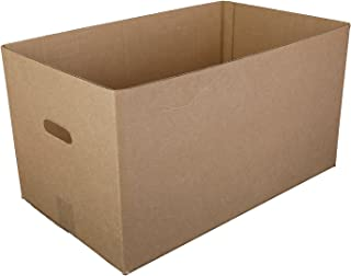 Kraft 22 Inch x 13 Inch x 12-1/2 Inch Corrugated Handle Carry Out Box, Case of 25