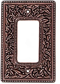 Vicenza Designs WPJ7004 San Michele Dimmer Jumbo Wall Plate, Antique Copper