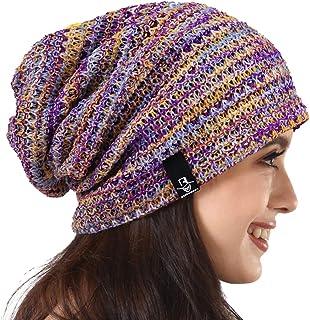 PGTen Women's Knit Slouchy Beanie Baggy Skull Cap Turban Winter Summer Beret Hat