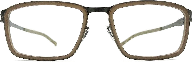 Ic  berlin Pierre G. Eyeglasses in Graphite & Walnut Matt