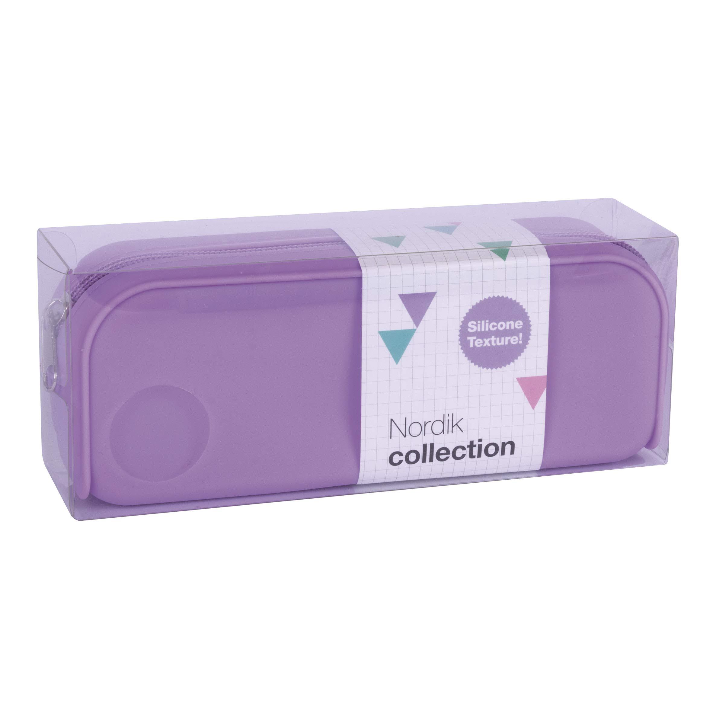 APLI 18416 - Estuche silicona Nordik Collection - Violeta: Amazon.es: Oficina y papelería