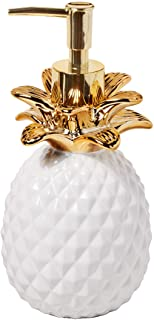 SKL Home by Saturday Knight Ltd. Gilded Pineapple Lotion Dispenser, White/Gold