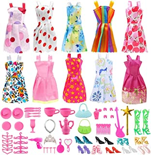 Doll Clothes for Barbie Dresses Gown with Shoes Outfit Set for Xmas Birthday Gift(10 Pack)