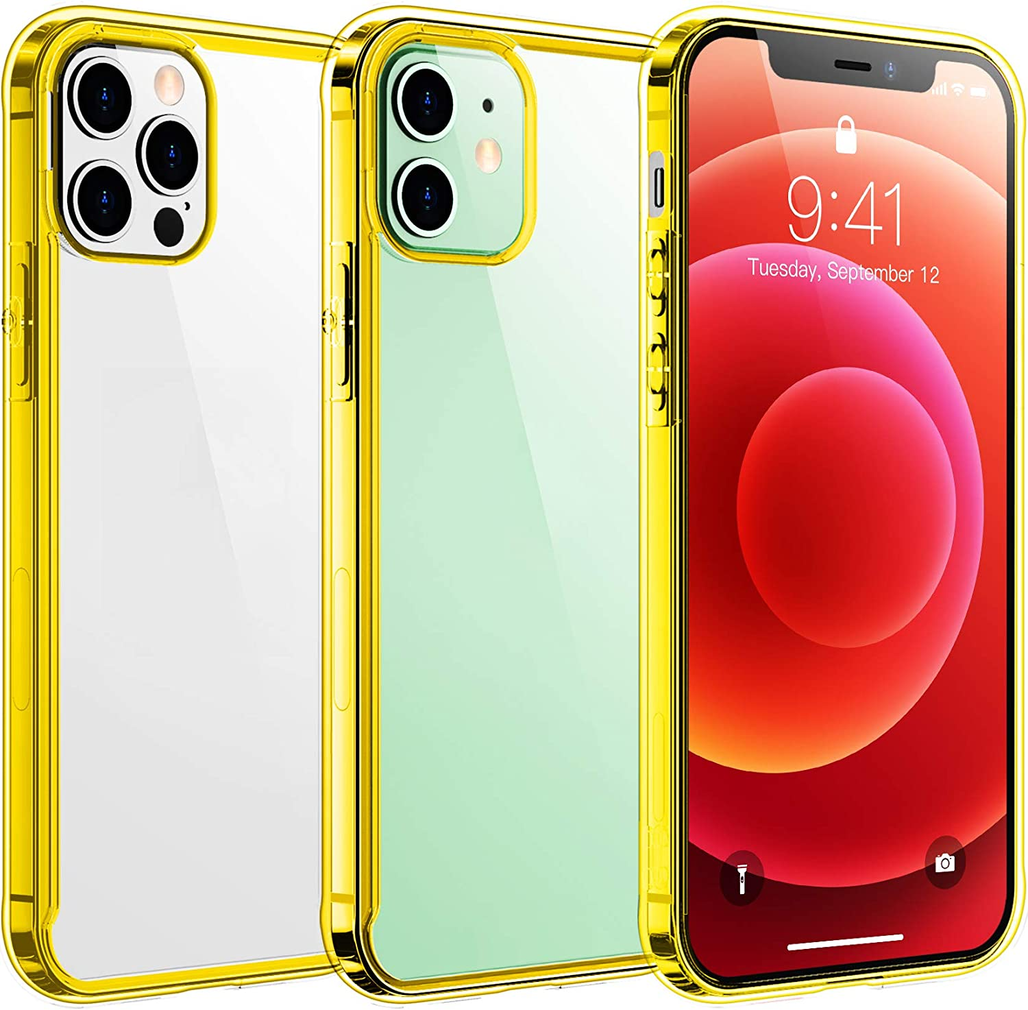 Temdan Clear Case Compatible with iPhone 12/iPhone 12 Pro Case $10.99 Coupon