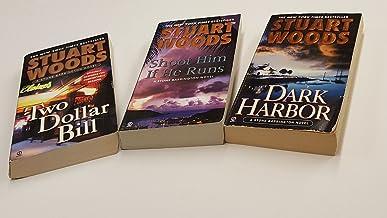 Stuart Woods Set of 3 Stone Barrington Novels (Shoot Him if He Runs, Two Dollar Bill, Dark Harbor)