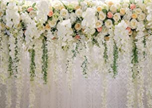 AIIKES 7x5FT Bridal Flowers Wall Backdrop Curtain Floral 3D Rose Wedding Party Photography Background Photo Baby Shower Birthday Photo Booth Props 11-490