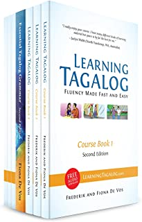 Learning Tagalog - Fluency Made Fast and Easy - Complete Course (7-Book Set) B&W + Free Audio Download