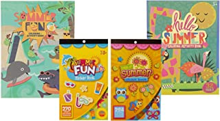 Kids Summer Coloring Books and Sticker Books