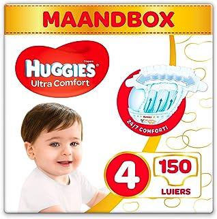 Huggies Ultra Comfort Baby luiers maat 4, 7-18 kg, 150 luiers (3 x 50 luiers)